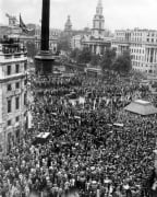 V J Day - Trafalgar Square, 1945 by Mirrorpix