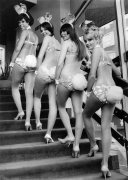 Bunny girls at London's Playboy Club