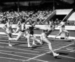 Dashing Dave Jones, 100 metres by Mirrorpix