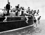 Sea Cadets go overboard with life belt by Mirrorpix