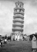 The Leaning tower of Pisa, Italy 1955 by Mirrorpix