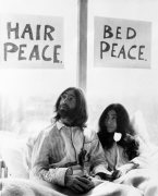 John Lennon and his wife Yoko Ono
