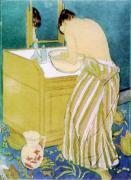 Woman Bathing by Mary Cassatt