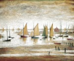 Yachts at Lytham by L S Lowry