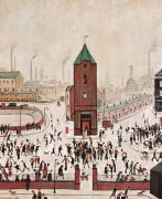 Town Centre by L S Lowry