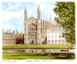 Cambridge - Kings College by Philip Martin