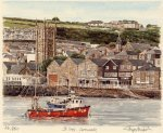 St. Ives - Harbour, Church by Glyn Martin