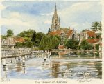 Marlow From The Lock by Glyn Martin