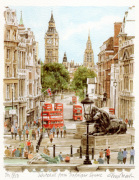 Whitehall from Trafalgar Square