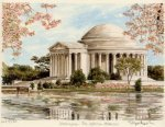 Washington - Jefferson Mem. by Glyn Martin
