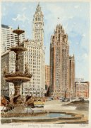Chicago - Wrigley Building by Philip Martin