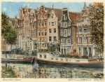 Amsterdam - Barges by Philip Martin