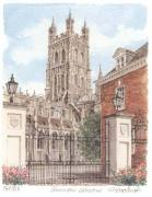 Gloucester Cathedral - portrait by Glyn Martin
