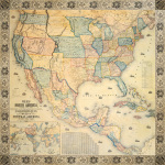 Map of North America 1853 by Jacob Monk