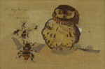 Owl and Bees by Joseph Crawhall