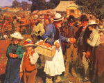A Gala Day by Sir Alfred Munnings