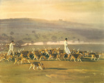 Belvoir Hounds Exercising in the Park by Sir Alfred Munnings
