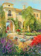 Spanish Courtyard II by Longo