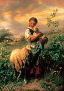 The Young Shepherdess by Johann Hofner