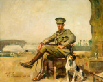 R.W. Sutherland Cavalry Officer by Sir Alfred Munnings