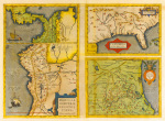 Latin America and Florida 1584 by Abraham Ortelius