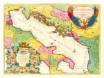 Le Golfe de Venise 1696 by Nicolas Sanson