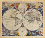 Novissima Totius Terrarum Orbis Tabula 1679 by Nicolaes Visscher