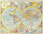 A New and Accurat Map of the World 1627-1651 by John Speed