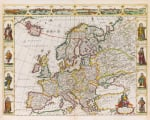 Nova Europae Descriptio 1680 by Frederick de Wit