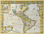 America - With Those Known Parts in That Unknowne Worlde 1626 by John Speed