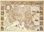Asia 1618 by Willem Janszoon Blaeu