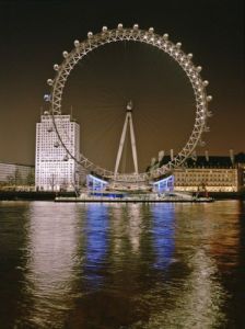 London Eye Millennium Wheel Night by Assaf Frank