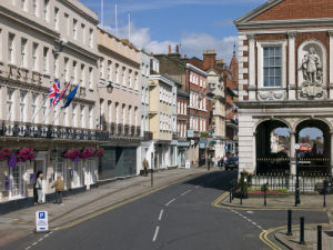 Windsor Guildhall and High street by Assaf Frank