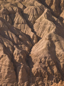 Desert mountain in Jordan valley, Israel close-up by Assaf Frank