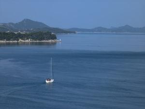 Croatia, sea against blue skies by Assaf Frank