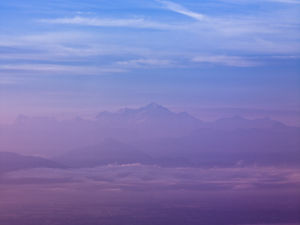 France, Arial view of the mont blanc by Assaf Frank