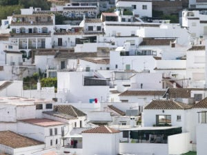 The white housesin the village of Mijas, Costa del Sol, Spain by Assaf Frank