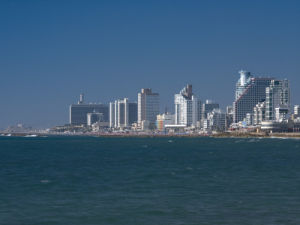 Israel, view from Jaffa to Tel Aviv by Assaf Frank