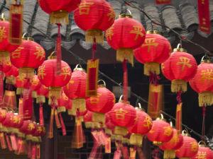 Lantern at Jade Buddha Temple, Shanghai, China by Assaf Frank