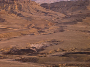 Ramon Crater at Dusk, Mizpe Ramon, Israel by Assaf Frank