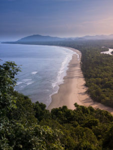 Beach, elevated view, Malaysia by Assaf Frank