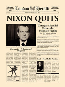 Nixon Quits by London Herald