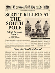 Scott Killed at South Pole by London Herald