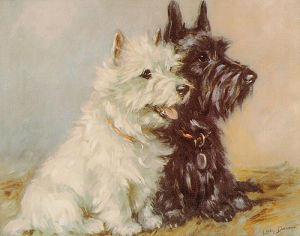 Scotch Terriers by Mac Lucy Dawson