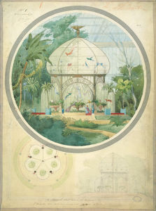 Aviary in a Winter Garden by Adrien Chancel