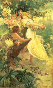 Spirit of Spring by Alphonse Mucha