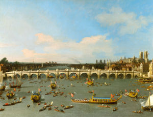 Westminster Bridge, London Lord Mayor's by Giovanni Canaletto