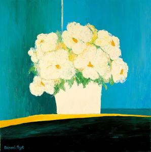 Fleurs Blanches au Pot Blanc by Bernard Payet