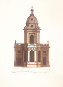 The Eastern Prospect of St. Philip's Church, Birmingham by Pamela Campbell