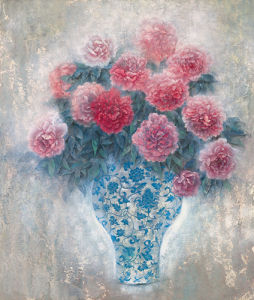 Pink Peonies by Cai Xiaoli